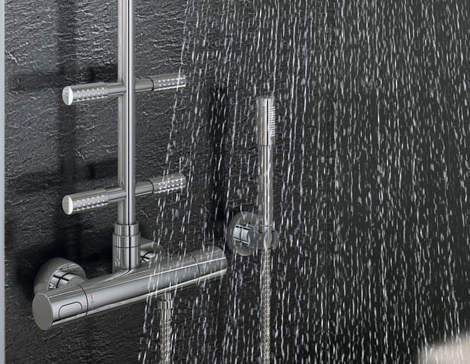 many of our shower systems feature handheld showers and head showers with integrated water saving technology this limits the water flow to 94 liters per
